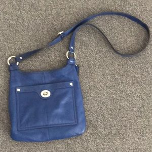 Coach blue leather crossbody